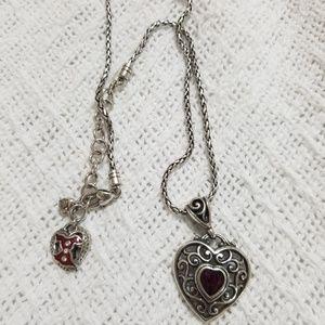 ❤ Brighton- Garnet Heart Necklace ❤
